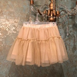 NWOT! Gold glitter tutu skirt Sz 3T by Gymboree